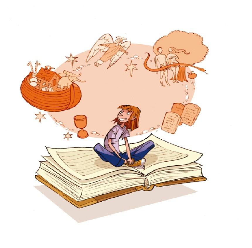 Tegning m. bog